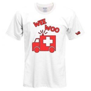 White Wee Woo Ambulance Shirt