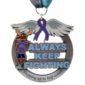 Virtual Strides Partner Virtual Race - SPN Survivors medal