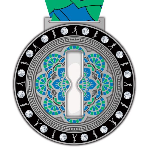 Virtual Strides Virtual Run - Always Time to Run hourglass medal