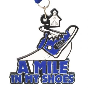 Virtual Strides Partner Virtual Race - A Mile In My Shoes virtual race medal