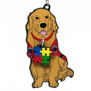 Virtual Strides Partner Virtual Race - Autism Service Dog Medal
