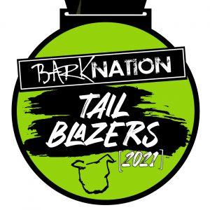 Virtual Strides Partner Virtual Race - Bark Nation's Tail Blazers 2021 virtual race medal