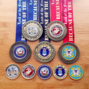 Virtual Strides Virtual Race - Army, Marine Corps, Navy, Air Force, and Coast Guard Medals
