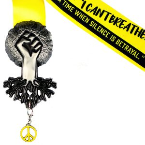 Virtual Strides Virtual Run - Black Lives Matter race medal