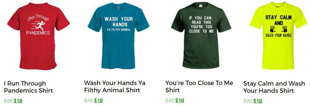 Coronavirus Pandemic Social Distancing Shirts