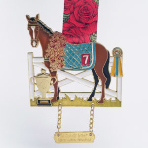 Virtual Strides Partner Virtual Race - PACE Derby Day Races Kentucky Derby horse medal