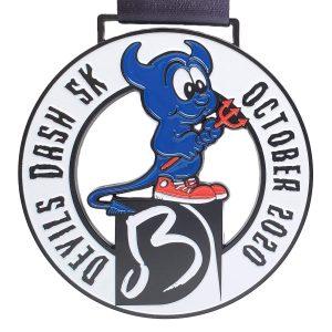 Virtual Strides Partner Virtual Race - Devils Dash BD Performing Arts race medal
