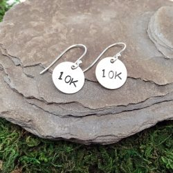 Sterling Silver Distance Earrings