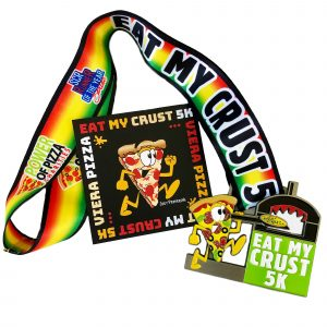 Virtual Strides Virtual Race - Eat My Crust 5k Pizza Oven Medal