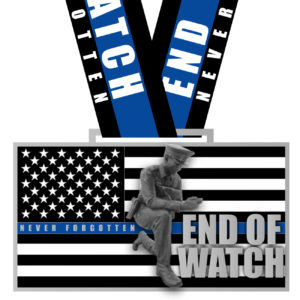 Virtual Strides Virtual Race - End of Watch Fallen Police Officers Medal