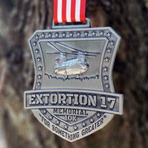 Virtual Strides Partner Virtual Race - Extortion 17 Memorial Run Medal