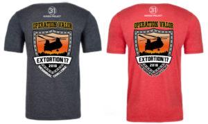 Virtual Strides Virtual Race - Extortion 17 Memorial Run Shirts