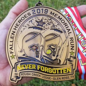 Virtual Strides Partner Virtual Race - Fallen Heroes Memorial Run 2019 medal