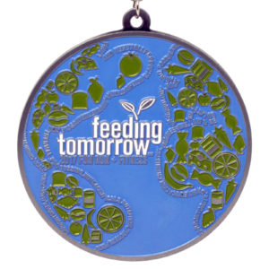 Virtual Strides Partner Virtual Race - Feeding Tomorrow Earth Medal
