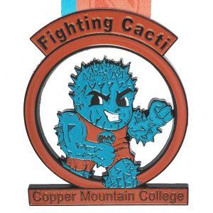 Virtual Strides Partner Virtual Race - Copper Mountain College Fighting Cacti virtual run medal