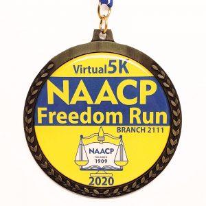 Virtual Strides Partner Virtual Race - NAACP Freedom Run race medal