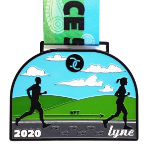 Virtual Strides Virtual Race - Lync Cycling Go The Social Distance virtual race medal