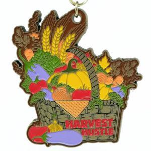 Virtual Strides Partner Virtual Race - Engine 2 Harvest Hustle Medal
