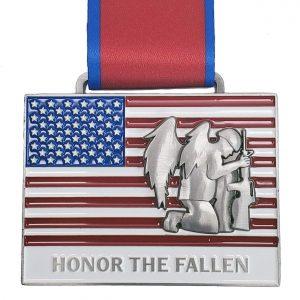 Virtual Strides Partner Virtual Race - Honor the Fallen Flag medal