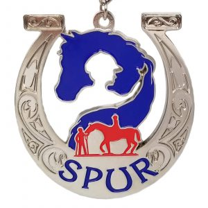 Virtual Strides Partner Virtual Race - Hoofin' It For SPUR Horseshoe medal
