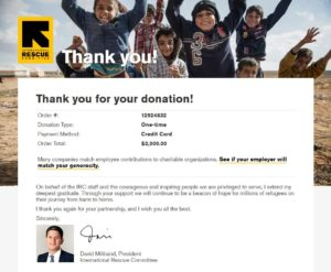 International Rescue Committee Virtual Race Donation