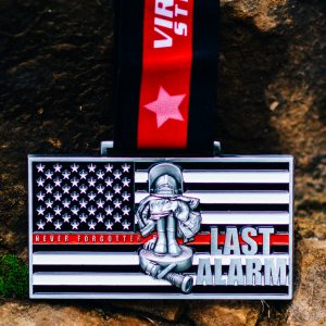 Virtual Strides Virtual Run - Last Alarm virtual race medal