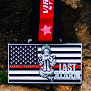 Virtual Strides Virtual Run - Last Alarm virtual race medal