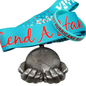 Virtual Strides Virtual Race - Lend a Hand: 2017 Hurricane Relief Medal