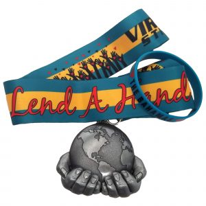 Virtual Strides Virtual Race - Lend a Hand: The Bahamas Medal and Bracelet