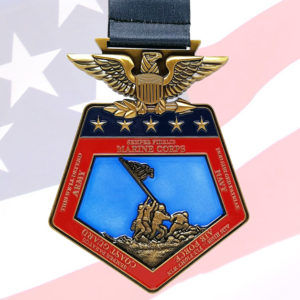 Virtual Strides Virtual Race - Lest We Forget Memorial Day Medal
