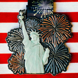 Virtual Strides Virtual Race - Let Freedom Ring Statue of Liberty Fireworks medal