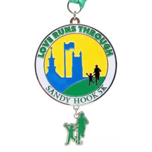 Virtual Strides Virtual Race - Love Runs Through Sandy Hook 5K medal