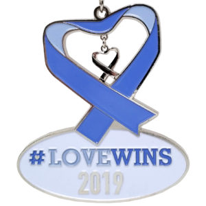 Virtual Strides Partner Virtual Race - #LOVEWINS Virtual 5k Las Vegas Shooting medal