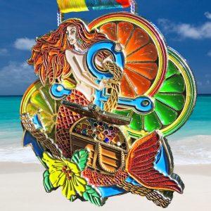 Virtual Strides Virtual Race - Lucky Charm Challenge treasure chest mermaid medal