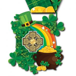 Virtual Strides Partner Virtual Race - Lucky Leaf Leap St. Patrick's Day medal