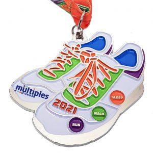 Virtual Strides Partner Virtual Race - Multiples Run/Walk In The Family sneakers medal