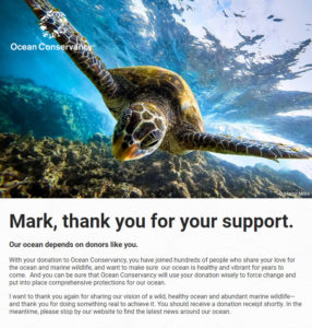 Ocean Conservancy Virtual Race Donation