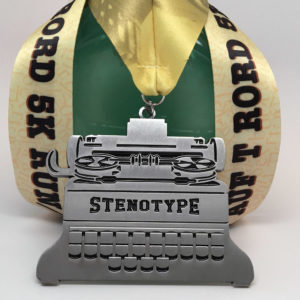 Virtual Strides Partner Virtual Race - Off the Record and On the Run Stenotype Medal