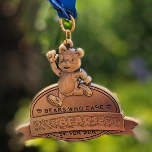 Virtual Strides Partner Virtual Run - Bears Who Care OktoBEARfest medal
