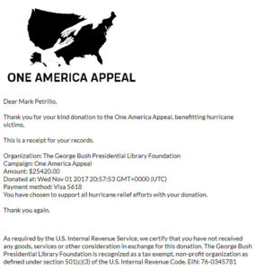 One America Appeal Virtual Race Donation