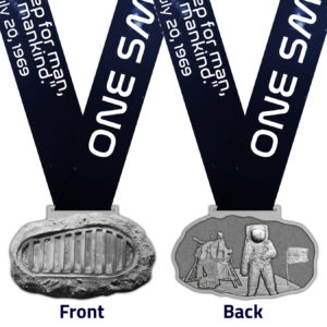 Virtual Strides Virtual Race - One Small Step Apollo 11 Moon Landing 50th Anniversary Medal
