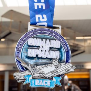 Virtual Strides Partner Virtual Race - Onward and Upward Naval Aviation Museum Foundation medal