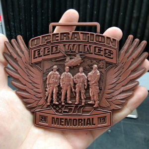 Virtual Strides Partner Virtual Race - Operation Red Wings 2019 Medal