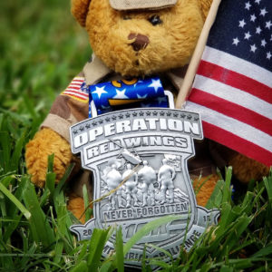 Virtual Strides Partner Virtual Race - Operation Red Wings Medal