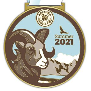 Virtual Strides Partner Virtual Race - Race For Wildlife Summer 2021 Arizona Game and Fish Department virtual race medal