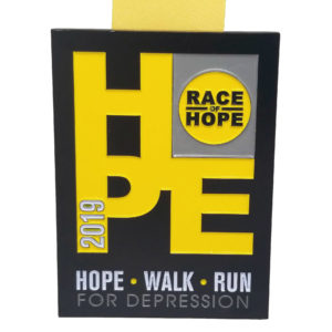 Virtual Strides Partner Virtual Race - Race of Hope Series Medal - Hope, Walk, Run for Depression
