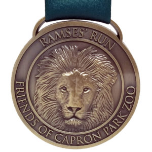 Virtual Strides Partner Virtual Race - Ramses Run 3D Lion Medal