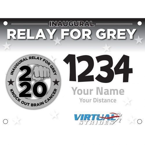 Relay For Grey Bib