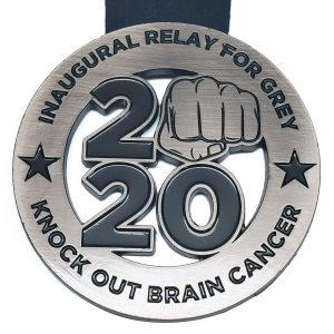 Virtual Strides Partner Virtual Race - Inaugural Relay For Grey Knock Out Brain Cancer medal