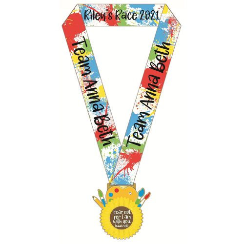 Rileys Race medal with ribbon